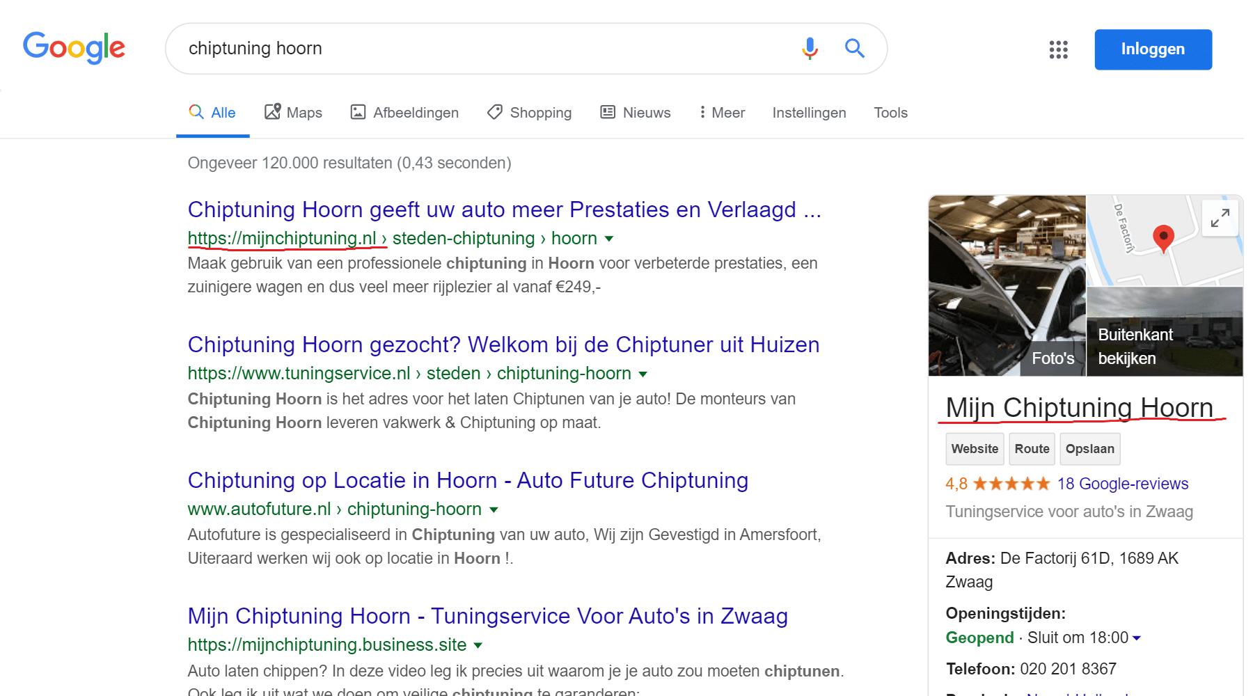 website laten maken die hoog in google scoort